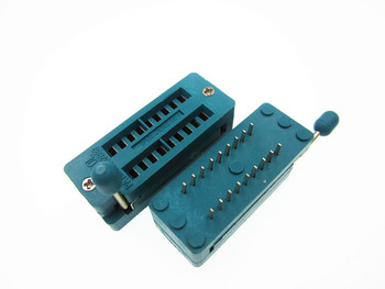 1gb IC Testa DIP ZIF ZIP Ligzda 18 Pin Piķis 2.54 mm, Press-Fit Dual Rindu Atstarpe 7.62 mm 0.3