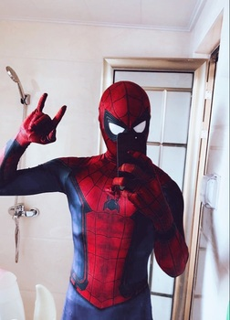 The amazing spiderman cosplay/spider-man elastīgs cos. 42761